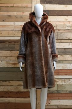 wonderful faux fur long over coat with by CrystalVintageuk on Etsy