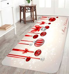 Christmas Ball Printed Skidproof Rug