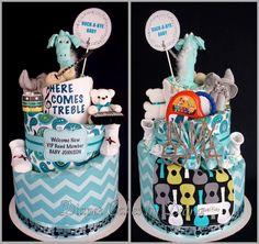 Rock'n'Roll Diaper Cake www.facebook,com/DiaperCakesbyDiana