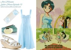 Like Sailor Moon Outfits on Facebook!  HM dress in Light Blue Warehouse metal dome skinny belt in Mint American Eagle iridescent pop studs in Silver Charles by Charles David Arisen wedge sandal in White