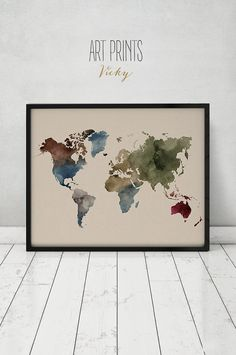 Sheet music map of the world art print absolutely love this could world map art print watercolor map poster large world map travel map world map watercolor typography art travel decor artprintsvicky gumiabroncs Choice Image