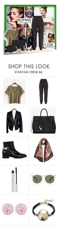 """Без названия #5633"" by maria-kononets ❤ liked on Polyvore featuring Post-It, Alexander McQueen, Yves Saint Laurent, Eugenia Kim, 100% Pure, Karen Walker, Emilio! and Kenneth Jay Lane"