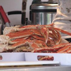 King Crab at Tracy's Crab Shack. Juneau, AK