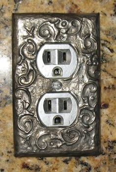 Pewter light switch covers