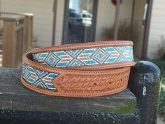 Examples of custom handmade beaded belts I by BeadedBeltsByTidwell