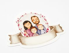 A family pack including a photo album, a photo frame and a pendant Happy Family, Working On Myself, New Work, Packing, Behance, Illustrations, Gallery, Check, Crafts