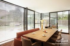 Provide ultimate sun protection and privacy control. These advanced external blinds can be tilted, opened, closed or raised for interrupted views. Exterior Blinds, The Block Glasshouse, Interior Windows, Privacy Screens, Glass House, Sun Protection, Venetian, Furniture, Home Decor