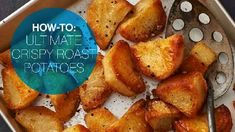 Learn how to make the ultimate crispy roast potatoes, which are crispy on the outside and oh-so soft inside.