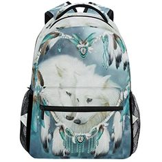Dream Catchers Wolf School Backpacks For Girls Kids Elementary School  Shoulder Bag Bookbag     You can get additional details at the image link. 42c9b510a3519