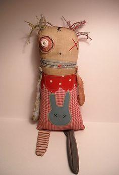 Monster Rag Doll Millie | Art Doll by Junker Jane