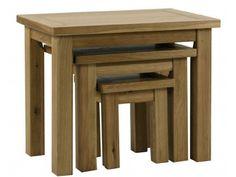 Lyon Oak Nest of Tables mix of solid European oak and oak veneers £230.00