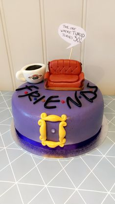 Friends «the one where» cake