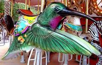 Um, I need to ride this hummingbird on the Endangered Species Carousel at the Phoenix Zoo