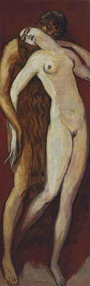 Adam et Eve 1922 x cm) by Kees van Dongen Painting & Drawing, Life Drawing, Art Fauvisme, Adam Et Eve, Georges Braque, Ouvrages D'art, Dutch Painters, Dutch Artists, Henri Matisse