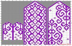 Варежки от Valeria Kerkk Knitted Mittens Pattern, Crochet Gloves, Knit Mittens, Knitting Socks, Knitting Charts, Knitting Stitches, Knitting Patterns, Yarn Projects, Knitting Projects