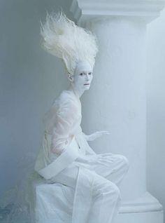 The W Magazine 'Stranger Than Paradise' Photoshoot Stars Tilda Swinton #Fashion #Art trendhunter.com