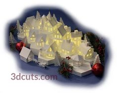 Tea Light Village — 3DCuts.com