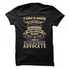 Advocate T Shirts, Hoodies. Check price ==► https://www.sunfrog.com/LifeStyle/Advocate-91694887-Guys.html?41382