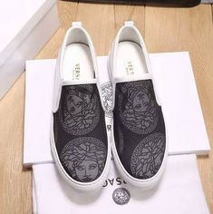 23 Finest Mens Loafers Leather Sole Mens Loafers Too Boot Loafer Sneakers, Cute Sneakers, Slip On Sneakers, Loafers Men, Versace Loafers, Fashion Boots, Mens Fashion, Mens Dress Outfits, Fly Shoes