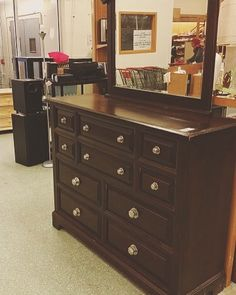 Beautiful dresser spotted at #MyThriftStores