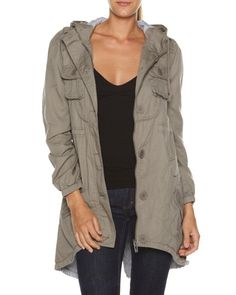 SURFSTITCH - WOMENS - JACKETS - COATS - BAUHAUS ARMY ANORAK JACKET - KHAKI