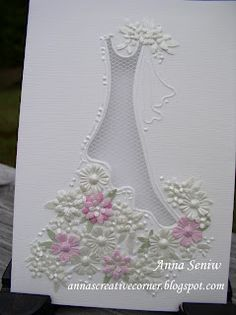 A Peek Inside The Creative Corner: Beautiful Bridal Card. Can't seem to find the dress embossing folder.