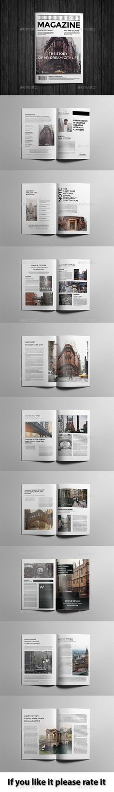 Clean Magazine Design_03 — Photoshop PSD #business #customizable • Available here → https://graphicriver.net/item/clean-magazine-design_03/12955729?ref=pxcr