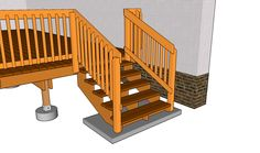 deck railing | Deck Stair Railing Plans | Free Outdoor Plans - DIY Shed, Wooden ...