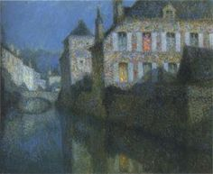 Henri Le Sidaner, Full Moon on the River, 1919