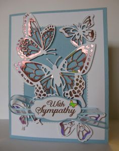 Butterfly Beauty Sympathy Card by Barb Mann - Cards and Paper Crafts at Splitcoaststampers Bee Cards, Cards Diy, Paper Butterflies, Butterfly Cards, Everything's Rosie, Painted Rocks Kids, Stamping Up Cards, Handmade Birthday Cards, Pretty Cards