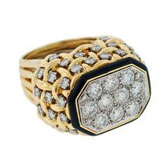 A. Brandt + Son - DAVID WEBB Huge 18kt & Platinum Diamond Ring  #Jewelery #Rings #diamonds