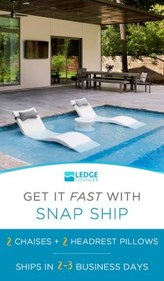 Pool party planning? Get in-pool furniture shipped fast with Ledge Lounger's snap ship.