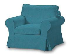 Dekoria Fire Retardant IKEA EKTORP Housse de Fauteuil-Turquoise/Bleu…