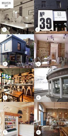 claraivy   fashion   design   ♥: Clara's Brighton Guide Brighton Restaurants, Restaurant Guide, Balconies, Family Search, Mansions, House Styles, Eat, Seaside, Fashion Design