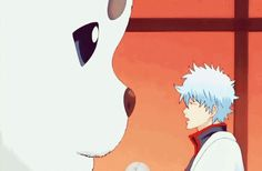 Gintama ~~ Disciplining Sadaharu is harder than it appears.