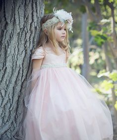 Look at this Petite Adele Pink Blush Tulle Flower Girl Dress - Toddler & Girls on #zulily today!
