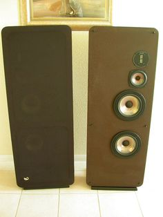 infinity qa speakers. infinity rsiii vintage speakers circa 1981-1983 with emit tweeter and dual 8\ qa