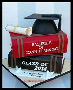 Graduation Cake Designer cakes, cupcakes and sugarcraft by Mel SugarMama in Auckland www. College Graduation Parties, Graduation Theme, Graduation Celebration, Celebration Cakes, Graduation Ideas, Beautiful Cakes, Amazing Cakes, Cake Paris, School Cake