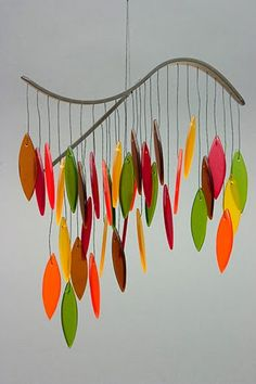 Colorful Glass Wind Chime