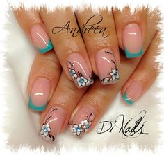 bello French Tip Nail Art, French Nail Designs, Acrylic Nail Designs, Nail Art Designs, Acrylic Nails, Diy Nails, Cute Nails, Manicure, Smart Nails