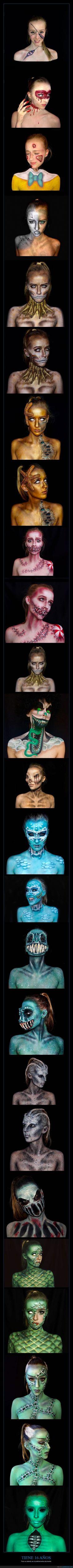 Tiene 16 años y crea estas obras de arte con maquillaje - Pero su talento es increíblemente alucinante