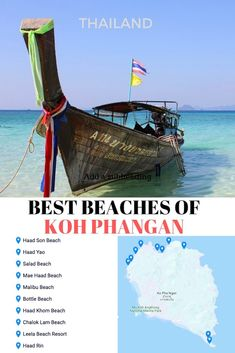 Read what are the best beaches of Koh Phangan in the Gulf of Thailand, where are the best beaches and how to get to the best beaches on Koh Phangan! Thailand Travel Tips, Visit Thailand, Asia Travel, Japan Travel, Solo Travel, Backpacking Thailand, Philippines Travel, Travel Advice, Travel Guides