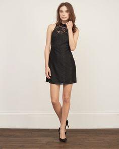 Womens Mockneck Lace Dress | Womens Clearance | Abercrombie.com