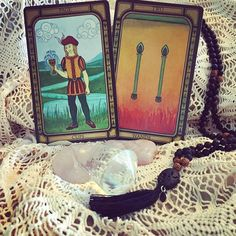 """It NEVER ceases to amaze me when I'm doing readings and try to avoid facts when they're placed right in my face. For example this morning I shuffled the cards while asking """"What do I need to know today?"""" I pulled the Page of Cups REVERSED and the Two of Wands. Yes at the moment I AM the Page reversed. Struggling with my emotions accepting the love and kindness of others and burying myself deeply within my burrow of trust issues. I'm almost sure I have a """"Stay Away"""" sign above me. I put it…"""