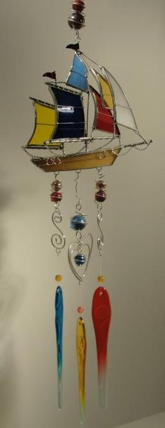 Stained Glass Chimes - one of these days I'm going to learn to make stained glass....