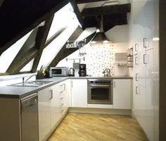small attick kitchen - Google Search