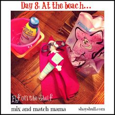 On Day 8, our elf headed to the beach!
