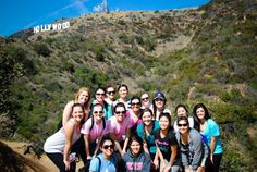 Use LINKS of sisterhood programs to get moving and get active with your sisters, like Theta Phi Chapter who went hiking for a sisterhood event. (We rock)
