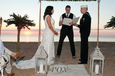 Ocean City Wedding Minister Sean Rox is the Officiant for this beautiful sunrise wedding on the 76th st. beach:  https://www.roxbeachweddings.com/