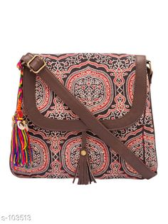 Slingbags Trendy Cotton Women Sling Bag  *Material* Cotton   *Dimension (L X W X H)* 10 in X 1 in X 10.5 in   *No  Of  Compartments* 2   *Gender* Women   *Description* It Has 1 Piece Of Women Sling Bag   *Work* Printed  *Sizes Available* Free Size *   Catalog Rating: ★4.2 (594)  Catalog Name: Must-Have Bags Vol 4 CatalogID_10260 C73-SC1075 Code: 214-103513-